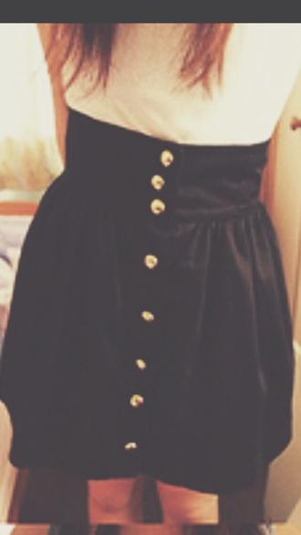 white white shirt buttons black and white skirt black skirt