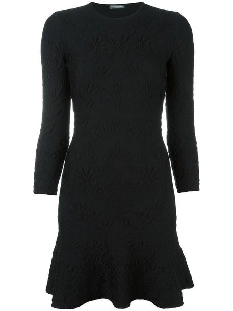 dress mini dress mini women spandex jacquard black wool