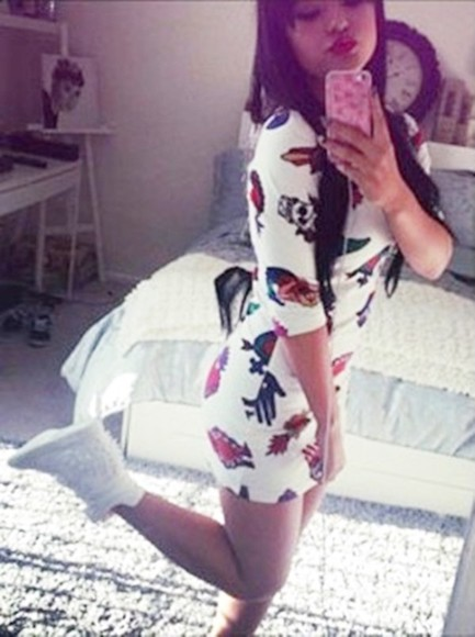 dress little dress white dress becky g nike sneakers shoes