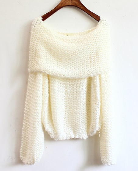 Drop shoulder knitting sweaters