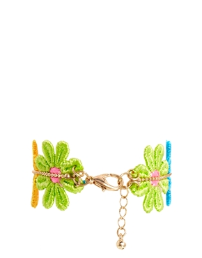 ASOS | ASOS Crochet Flower Friendship Bracelet at ASOS