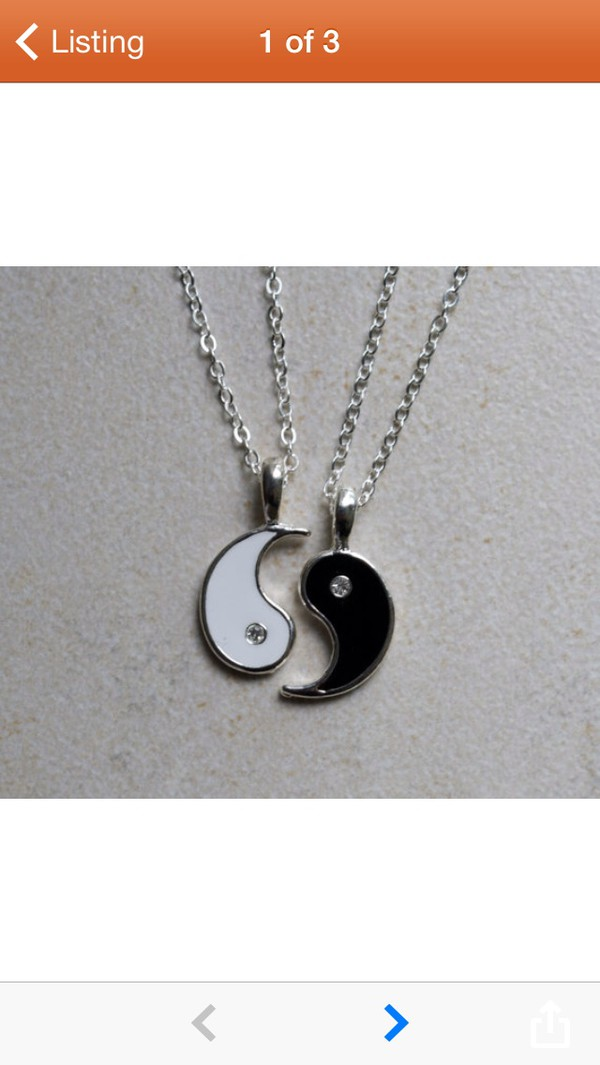 jewels yin yang necklace