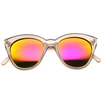 sunglasses cat eye mirrored sunglasses