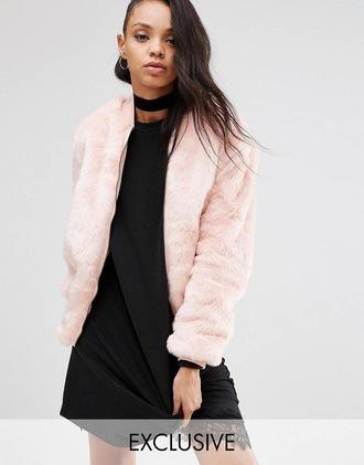 coat pink pink fur coat faux fur