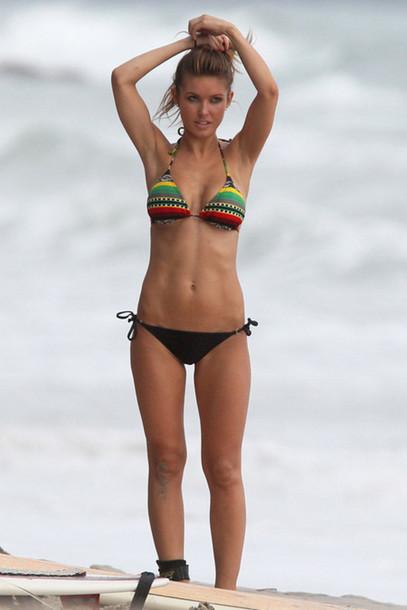 swimwear rasta pattern aztec bikini dailysurfvideo.com