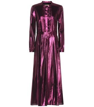 dress maxi dress maxi metallic silk pink