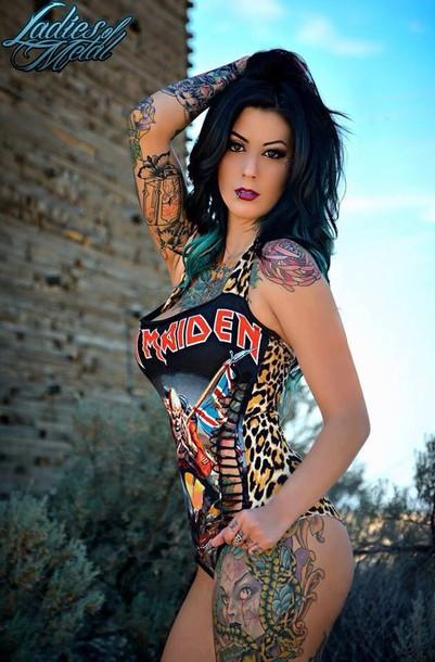 Tattooed goth babe 610 - 4 2