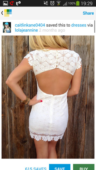white dress lace dress backless dress white lace dress