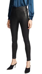 leggings,leather leggings,leather,black,pants