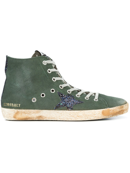 Golden Goose Deluxe Brand - Francy hi-top sneakers - women - Leather/Canvas/rubber - 41, Green, Leather/Canvas/rubber