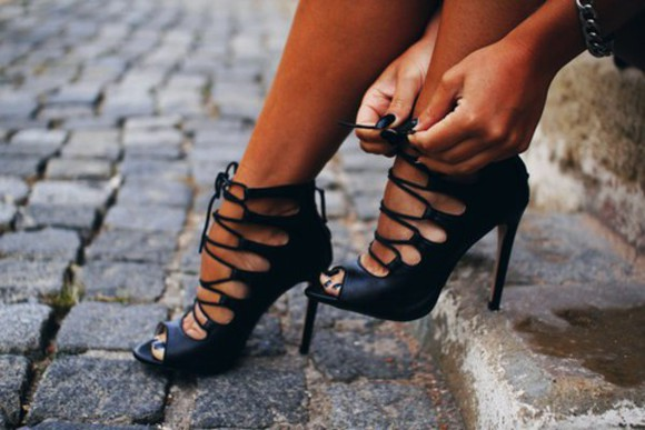 pattern high heels stillettos