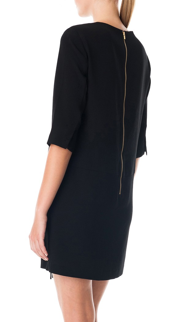 Tibi Bibelot Crepe Shift Dress