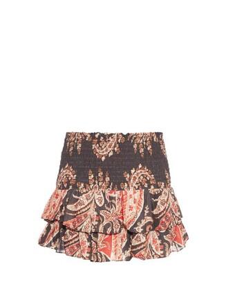 skirt printed skirt ruffle black