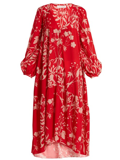 dress weed print red