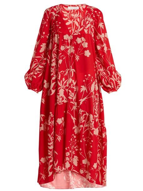 Borgo De Nor dress weed print red