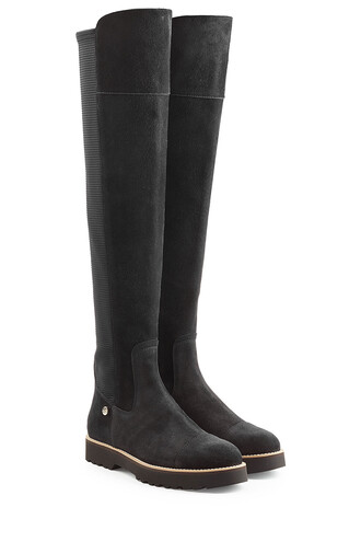 tall boots boots suede black shoes