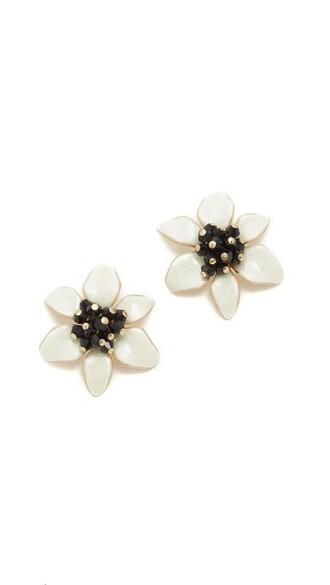 lovely statement earrings stud earrings cream jewels