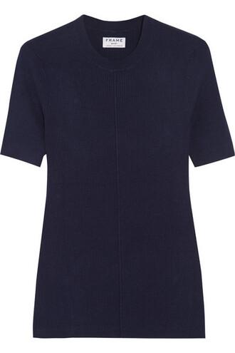 top classic navy silk