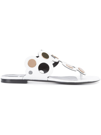 women sandals lace leather white shoes