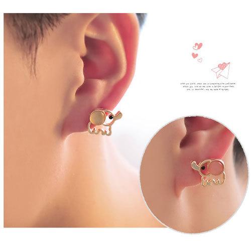 shego shopping mall — [grzxy6300027]Cute White Pink Elephant Fashion Stud Earring