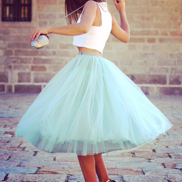 dream fantastic america skirt mint mint skirt tüllrock tull türkis falda beautiful blogger trendy trendy dreamy style clothes mint tulle skirt