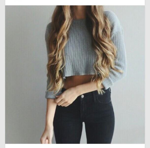 sweater sweatshirt casual jumper stylish trendy fashionista jeans tight skinnyjeans top
