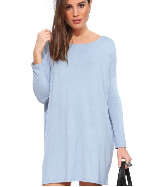 dress light blue basic dress