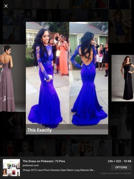 dress royal blue prom dress
