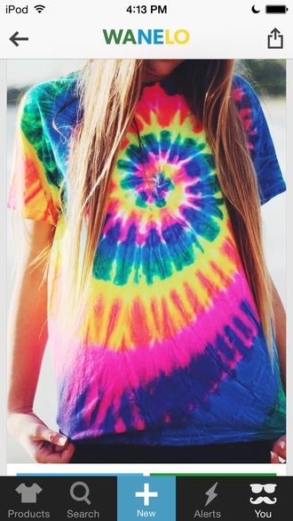 shirt tye dye tyedye tye dye cute colors smiley face tye die tye dye t-shirt rainbow rainbows rainbow air force