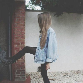 coat denim jacket tumblr instagram summer outfits clothes oversized jean jacket denim
