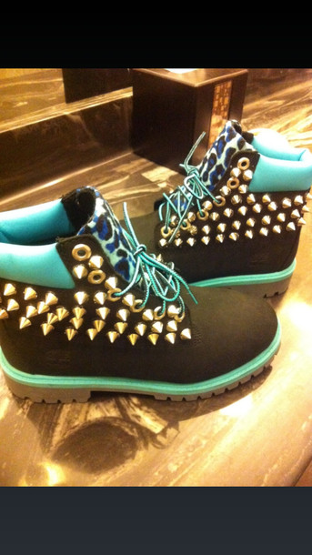 shoes timberlands leopard print