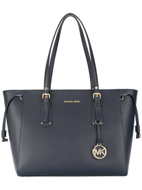 MICHAEL Michael Kors women leather blue bag