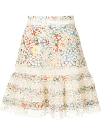 skirt floral skirt embroidered women floral cotton