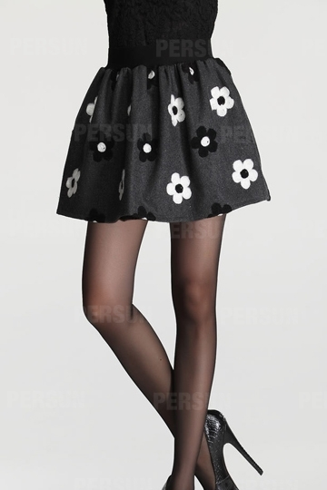 Sweet Lady Flower Pattern Mini Skirt [FMCC0194] - PersunMall.com
