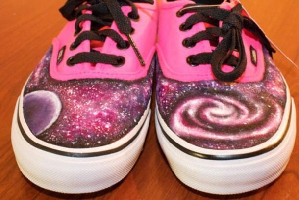 shoes galaxy print vans