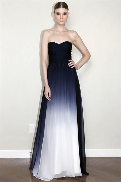 dress prom dress ombre dress