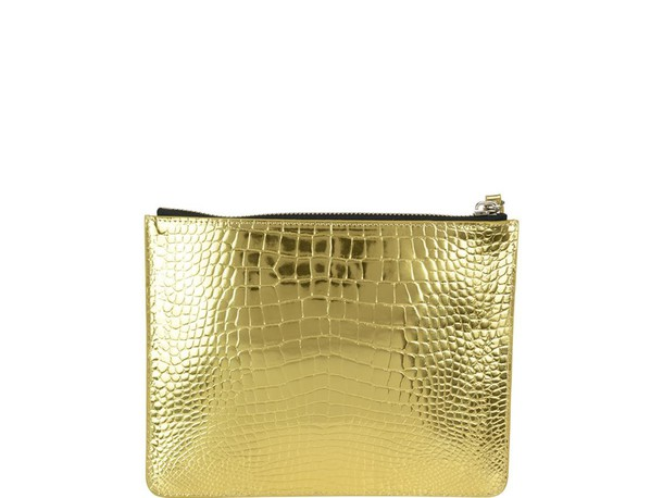 Giuseppe Zanotti pouch gold bag