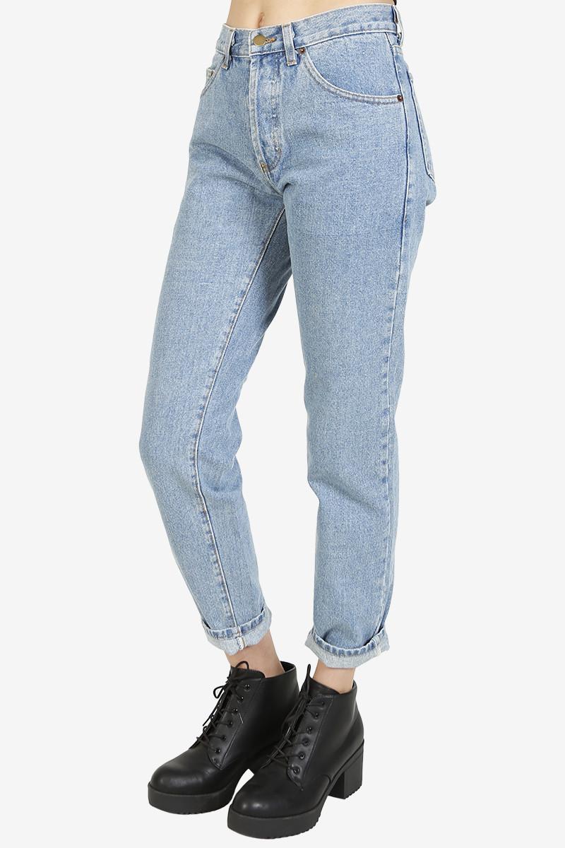 High Waist Mom Jeans - Light Wash – Echo Club House - Waist Mom Jeans - Light Wash – Echo Club House