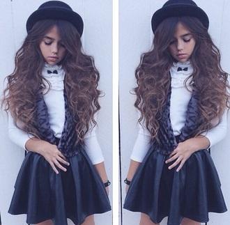 coat vest cheetah print leopard print hat fedora fashion leather leather skirt blouse kids fashion