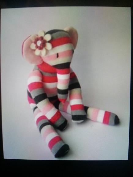 elephant jewels pink stripes monkey