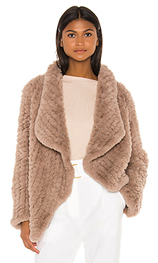 HEARTLOOM Ensley Faux Fur Coat in Fawn from Revolve.com
