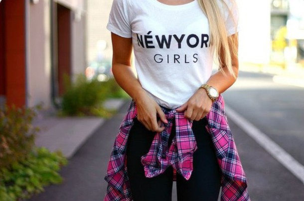 shirt blouse colorful watch plaid newyorker girl