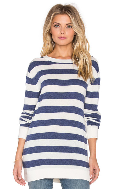 sweater striped sweater blue