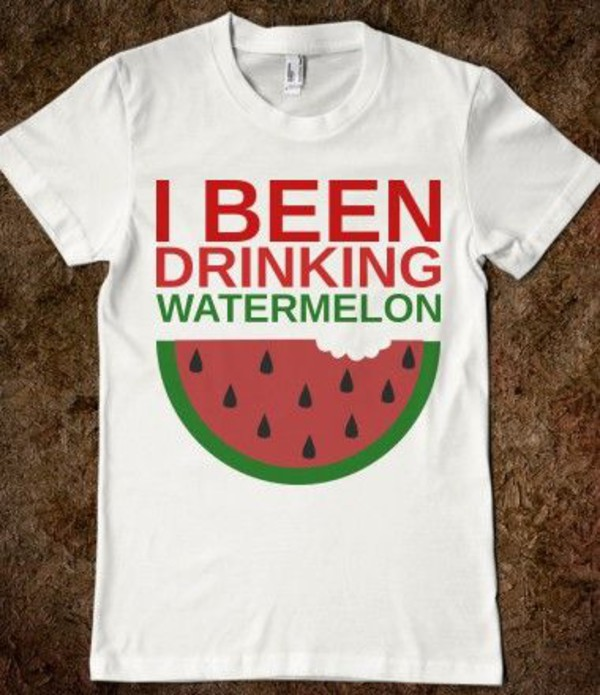 t-shirt beyonce watermelon print watermelon shirt drunk in love