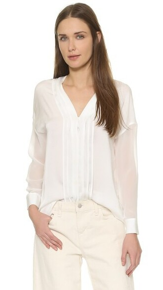blouse sheer white top