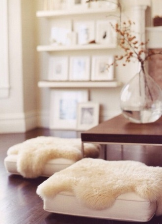 home decor fluffy pillow cozy bean bag home accessory sheepskin sheepskin throw living room living room decoration idea living room decor living room decoration