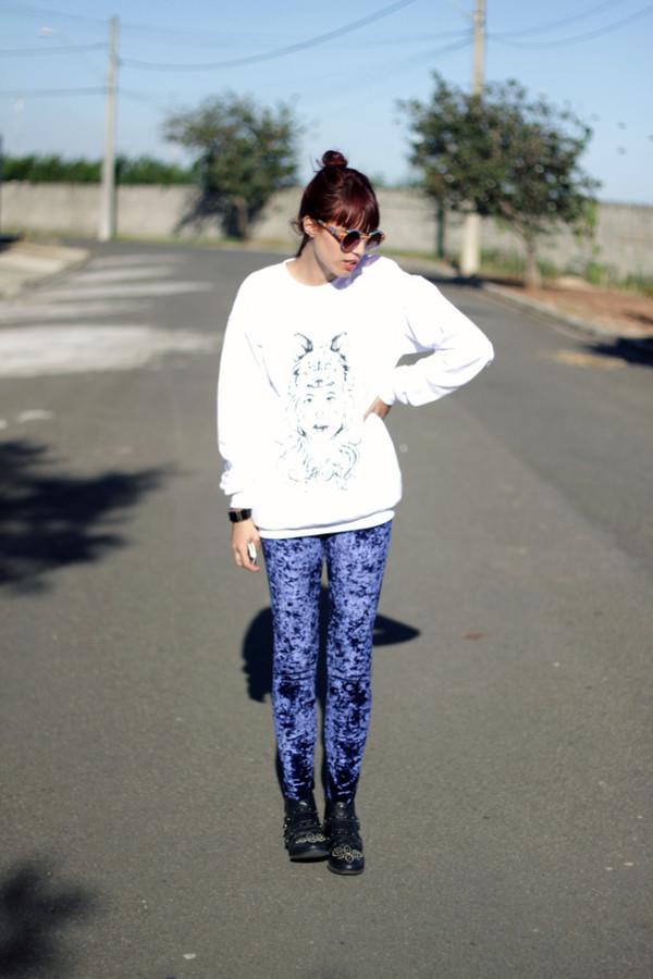 my name is glenn sweater pants shoes jewels sunglasses