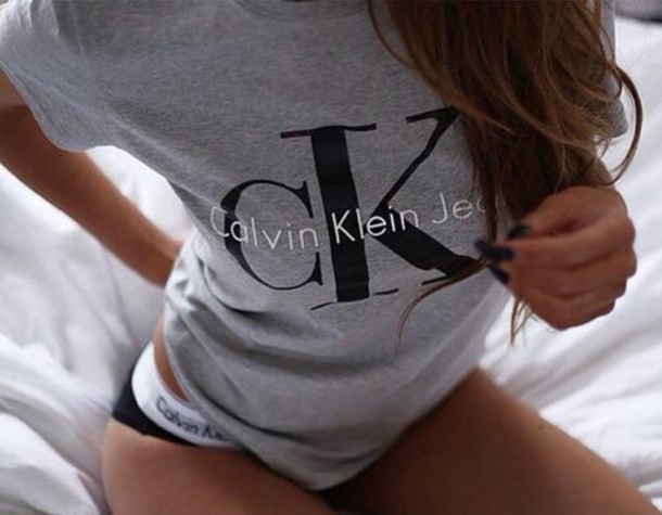 t-shirt grey calvin klein calvin klein