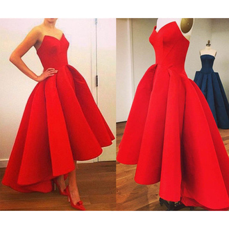 dress prom prom dress maxi dress maxi red red dress fashion style retro retro dress gown bridesmaid shop strapless strapless dress