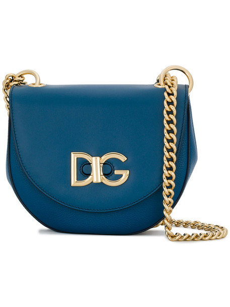Dolce & Gabbana cross women wifi bag leather blue